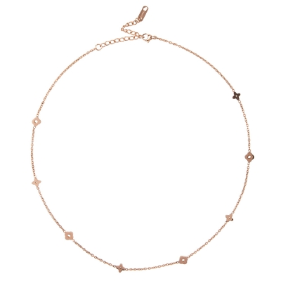 Necklace Stainless Steel Rome Clover