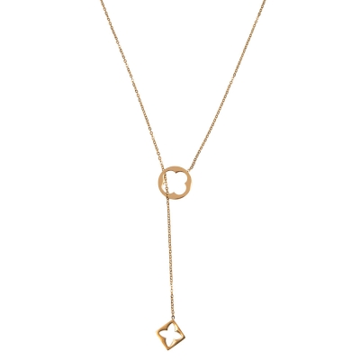 Necklace Long Stainless Steel Rome Clover