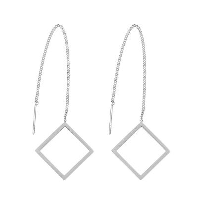 Earrings Stainless Steel Square